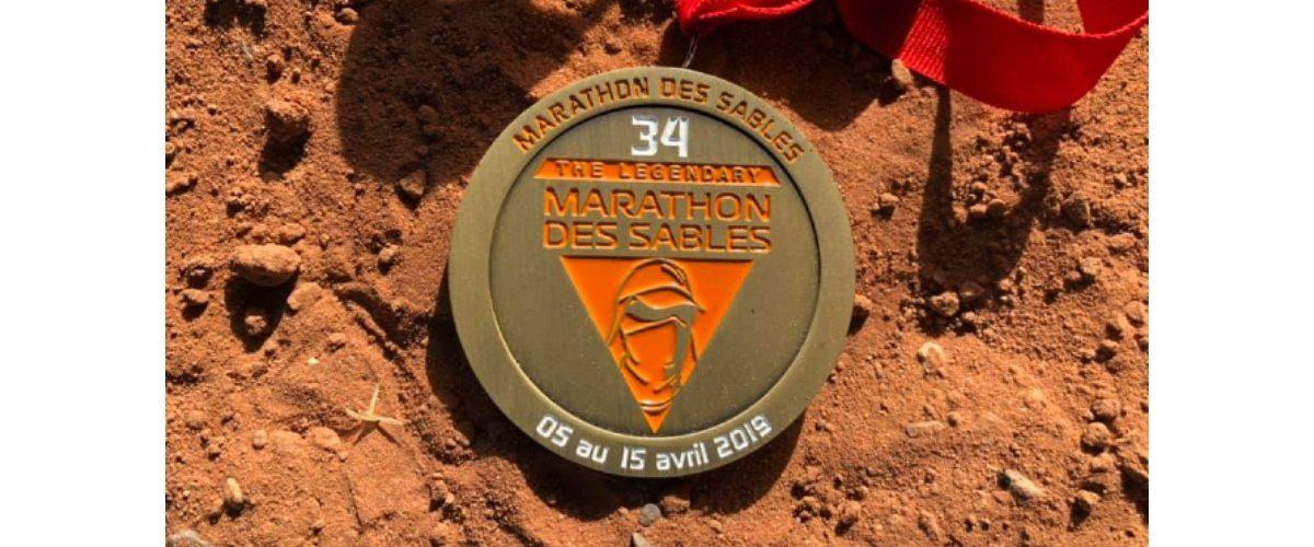 medaille Bart Eigenhuis Marathon des Sables 2019